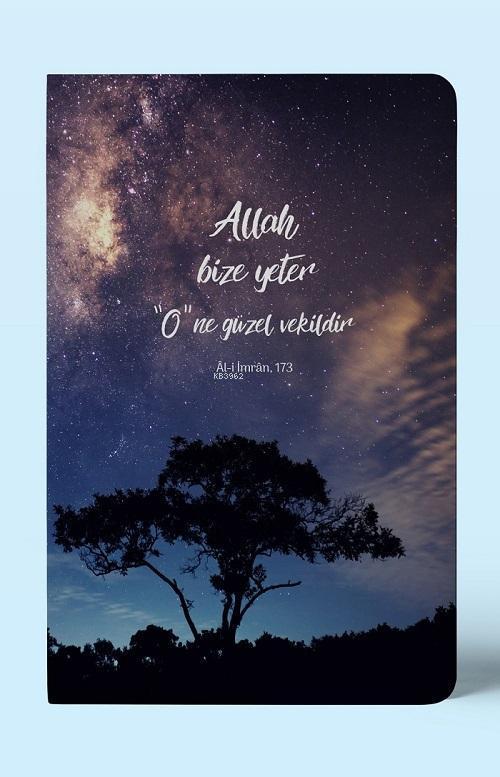 Allah Bize Yeter; Çizgili A5 Defter