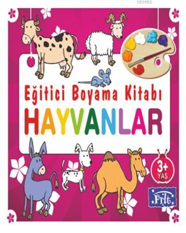Eğitici Boyama Kitabı - Hayvanlar; 3 Yaş Üstü