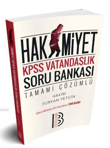 KPSS Hakimiyet Vatandaşlık Tamamı Çözümlü Soru Bankası Benim Hocam Yayınları