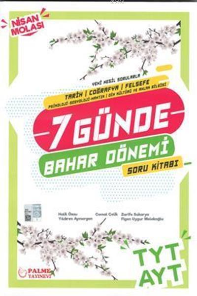 Palme Yayınları TYT AYT Tarih Coğrafya Felsefe 7 Günde Bahar Dönemi Soru Kitabı Palme