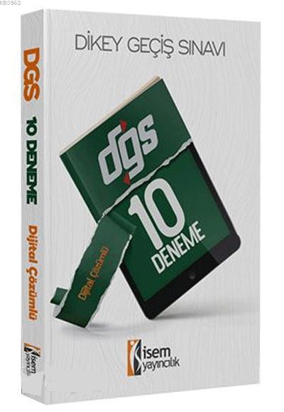 İsem Yayınları 2020 DGS Dijital Çözümlü 10 Deneme