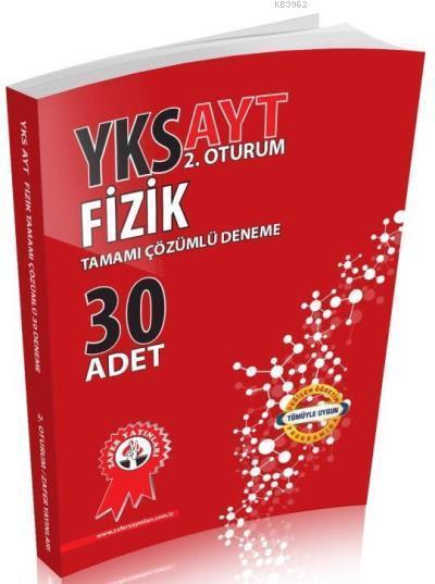 Zafer Yayınları AYT Fizik Tamamı Çözümlü 30 Deneme Zafer
