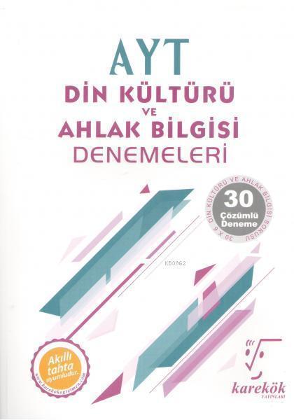 Karekök Yayınları AYT Din Kültürü ve Ahlak Bilgisi Denemeleri Karekök