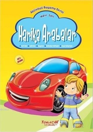Harika Arabalar - Mavi Seri; Aktiviteli Boyama Serisi