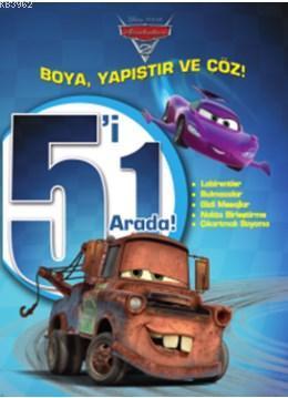 Disney Arabalar 5'i 1 Arada - Boya Yapıştır Çöz