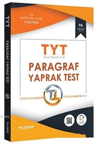 2019 TYT Paragraf Yaprak Test; 96 Test