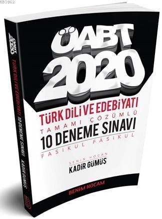 2020 ÖABT Türk Dili ve Edebiyatı Tamamı Çözümlü 10 Fasikül Deneme Benim Hocam Yayınları