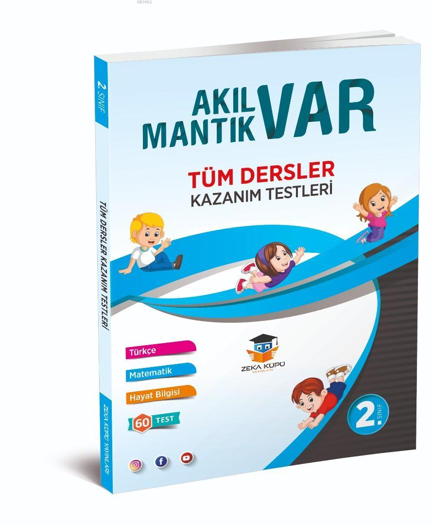 Zeka Küpü Yayınları 2. Sınıf Tüm Dersler Akıl Var Mantık Var Kazanım Testleri Zeka Küpü