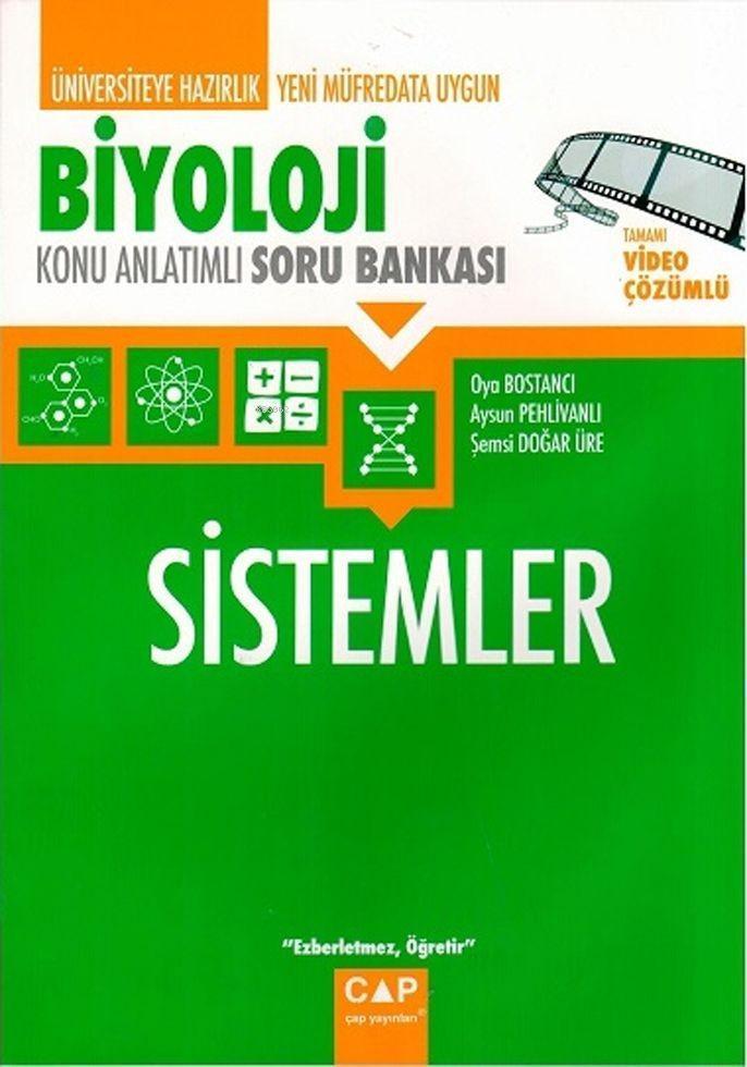 Çap Yayınları Üniversiteye Hazırlık Biyoloji Sistemler Konu Anlatımlı Soru Bankası Çap