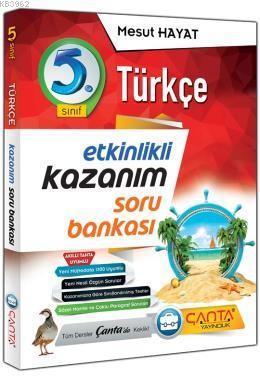 Çanta Yayınları 5. Sınıf Türkçe Etkinlikli Kazanım Soru Bankası Çanta