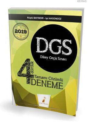 2019 DGS Dört Dörtlük 4 Deneme Sınavı Tamamı Çözümlü
