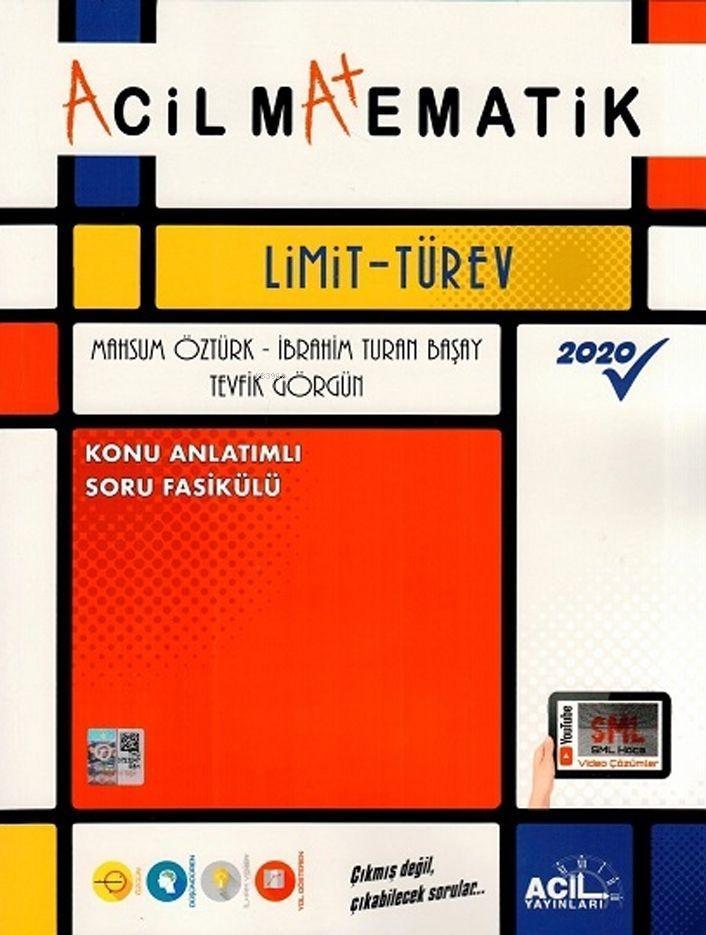 Acil Yayınları Matematik Limit Türev Konu Anlatımlı Soru Fasikülü Acil