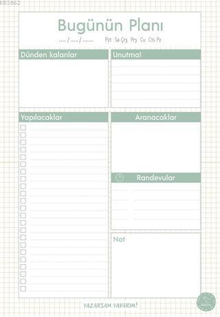 Süresiz Günlük Planlayıcı - Minimal Desenli