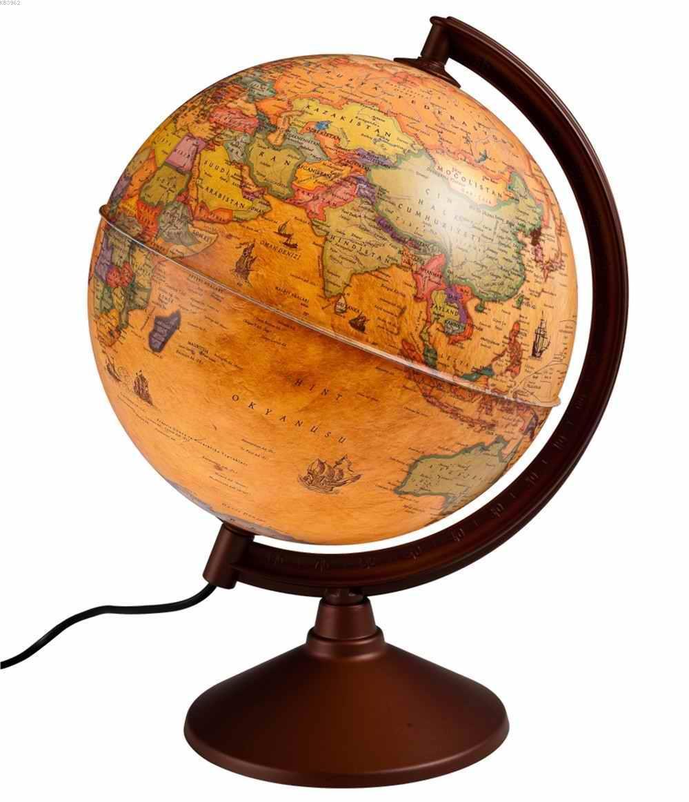 Gürbüz Işıklı Küre 20cm Antik 46201