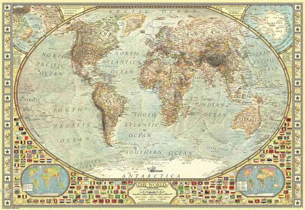 Art Puzzle 4631 Dünya Haritası 1500 Parça