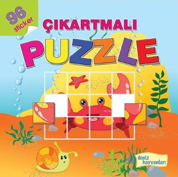 Deniz Hayvanları - Çıkartmalı Puzzle 96 Sticker