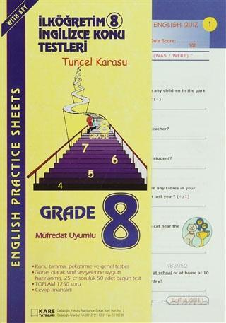 SBS 2008 İlköğretim 8 İngilizce Konu Testleri
