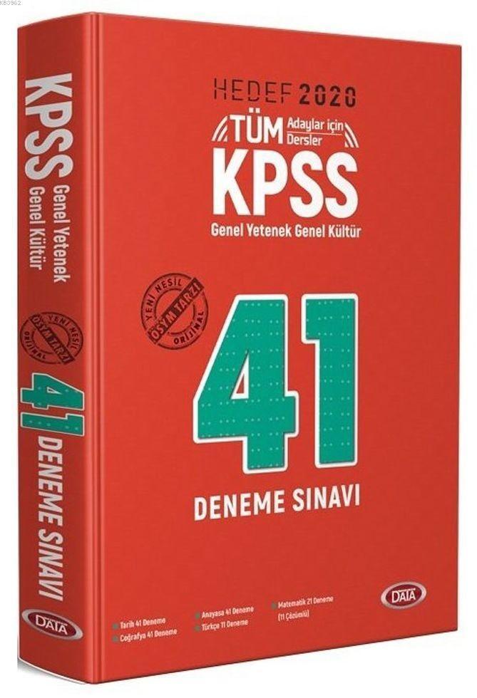 2020 KPSS Genel Yetenek Genel Kültür 41 Deneme Sınavı