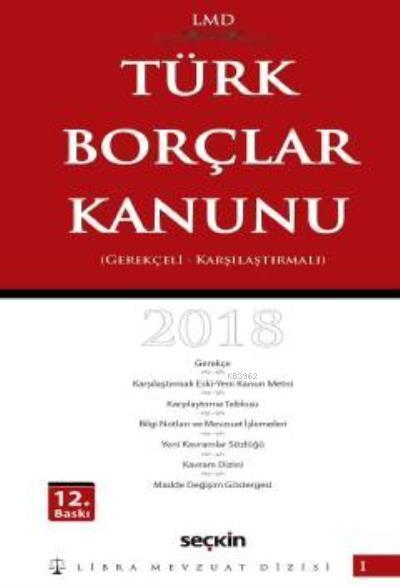 Türk Borçlar Kanunu Ciltli Libra Mevzuat Dizisi 1