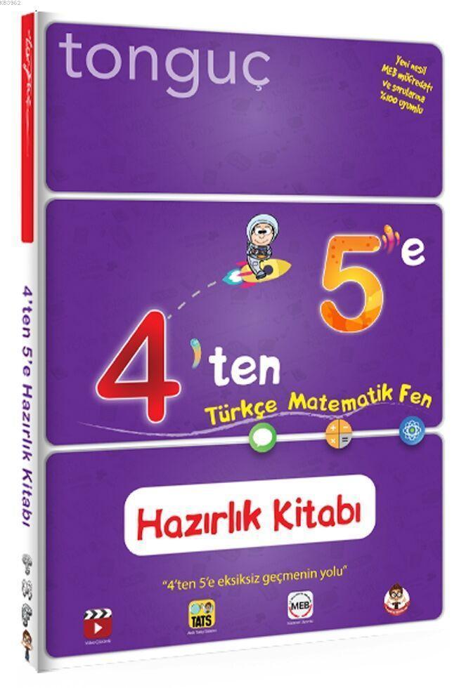 Tonguç Yayınları 4 ten 5 e Hazırlık Kitabı Tonguç