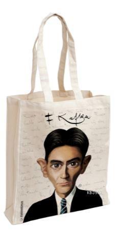 Franz Kafka Karikatür - Aforizma Bez Çanta