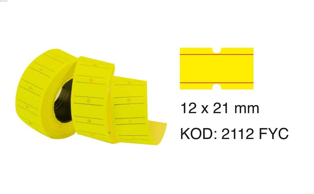 Tanex Motex Etiket 12X21 Florasan Sari 800 Lü 6`lı
