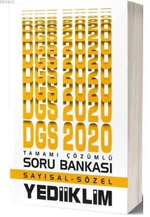 Yediiklim Dgs Say-Söz Tam.Çöz.Soru Bankasi 2020