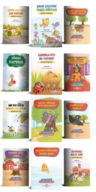 Sevimli Hayvanlar Hikaye Seti (12 Kitap Takım)