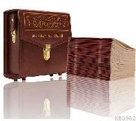 Orta Boy 30 Cüz Kur'an-ı Kerim (Mealli, Karton Ciltli, Çantalı)