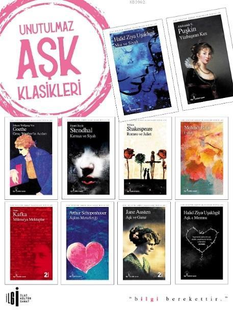 Unutulmaz Aşk Klasikleri Set (10 Kitap)