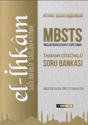 El İhkam MBSTS Tamamı Çözümlü Soru Bankası; Diyanet Mesleki Bilgiler Seviye Tespit Sınavı