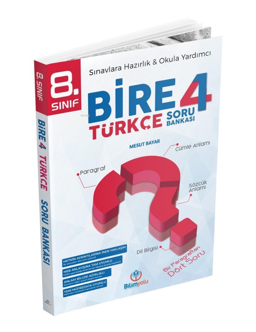 Bilimyolu Yayınları 8. Sınıf LGS Türkçe Bire 4 Soru Bankası Bilimyolu