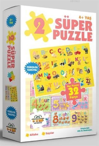 2 Süper Puzzle / Alfabe - Sayılar 4+ Yaş