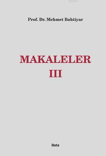 Makaleler III