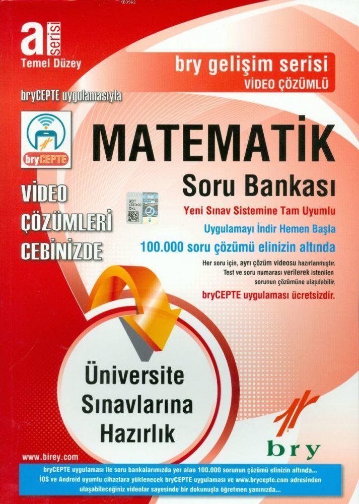A Serisi Temel Düzey Matematik Video Çözümlü Soru Bankası Gelişim Serisi