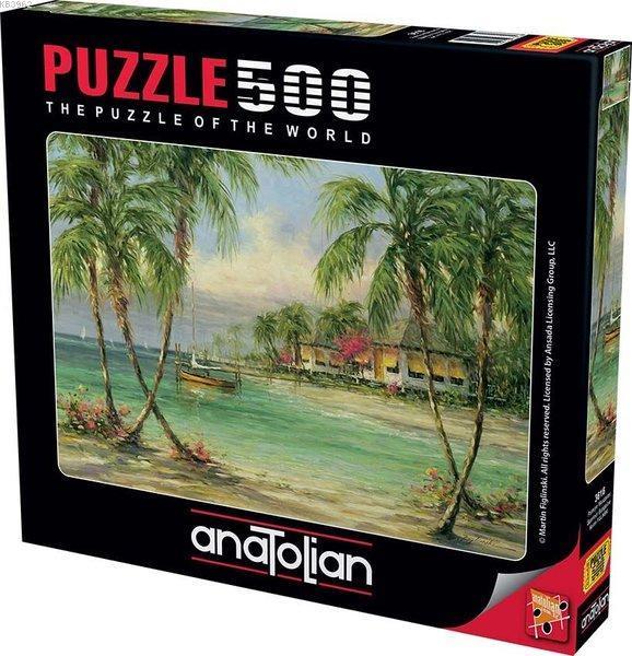 Anatolian-Puzzle 500 Palmiye Manzarası Barefoot Bungalow