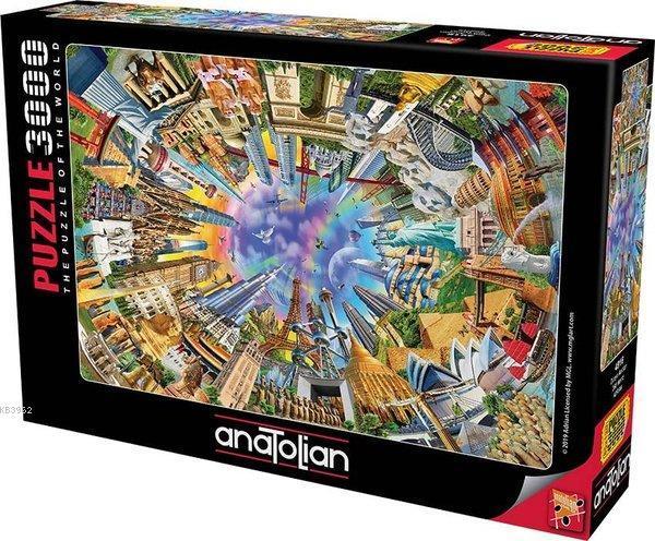 Anatolian-Puzzle 3000 Dünya Anıtları 360 World