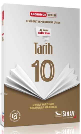 Sınav Dergisi Yayınları 10. Sınıf Tarih Akordiyon Serisi Aç Konu Katla Soru Sınav Dergisi