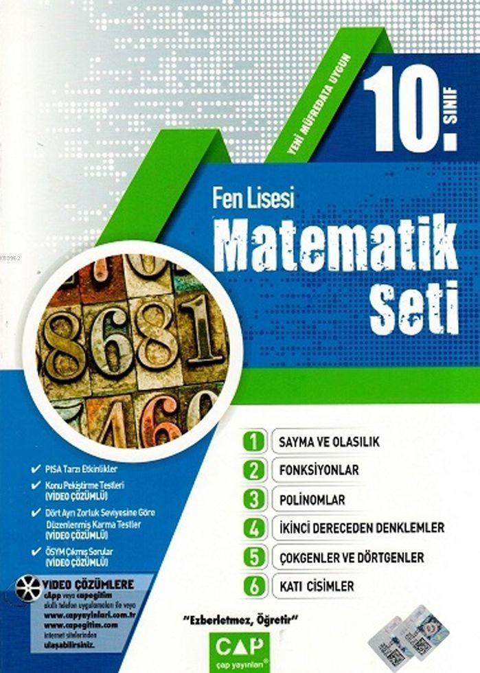Çap Yayınları 10. Sınıf Fen Lisesi Matematik Seti Çap