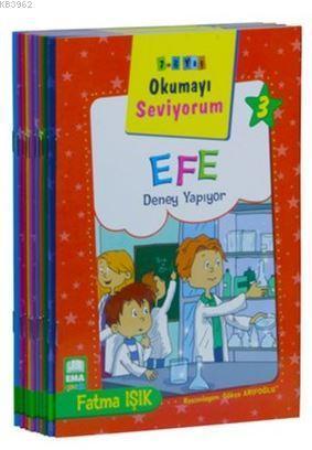 Okumayı Seviyorum Seti (10 Kitap Takım - Küçük Boy); 1. ve 2. Sınıflar İçin Eğik Yazılı