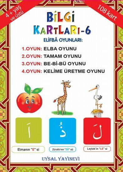 Bilgi Kartları 6 (6-15 Yaş); 1- Kur'an Elifbası ie