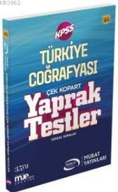 2018 KPSS Türkiye Coğrafyası Çek Kopart Yaprak Testler