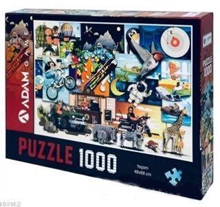 Adam Games Yaşam 1000 Parça Puzzle 48x68