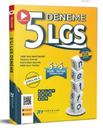 2021 LGS Netto Tamamı Video Çözümlü 5 Fasikül Genel Deneme Seti (Kolay-Orta-Zor)