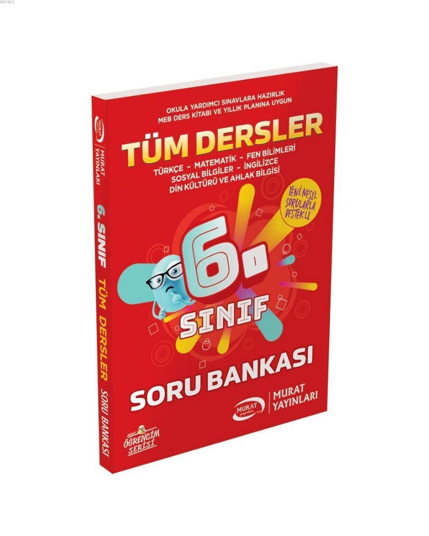 Murat Yayınları 6. Sınıf Tüm Dersler Soru Bankası Murat
