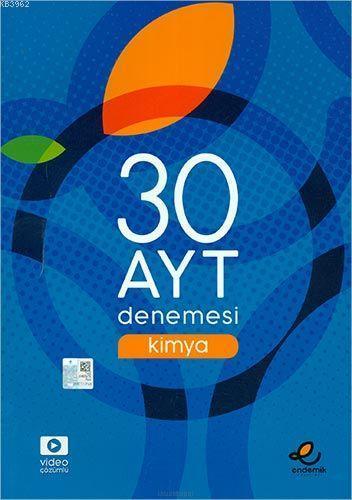 Endemik Yayınları AYT Kimya 30 Deneme Endemik