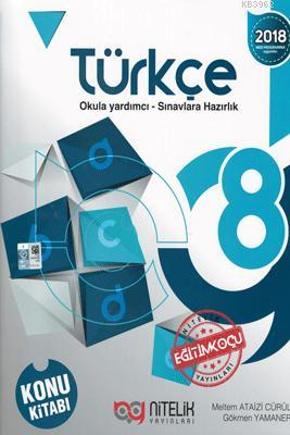 Nitelik Yayınları 8. Sınıf LGS Türkçe Konu Kitabı Nitelik