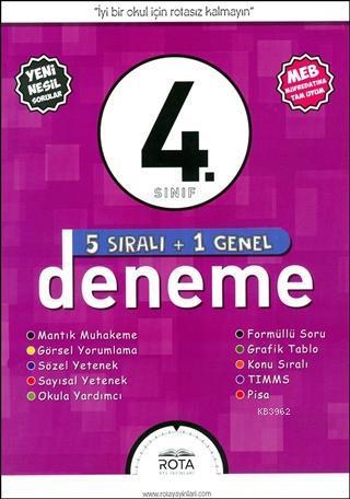 Rota Yayınları 4. Sınıf 5 Sıralı + 1 Genel Deneme Sınavı RTY Rota