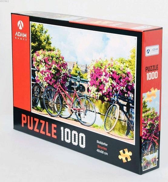 Adam Games Bisikletler 1000 Parça Puzzle 48x68
