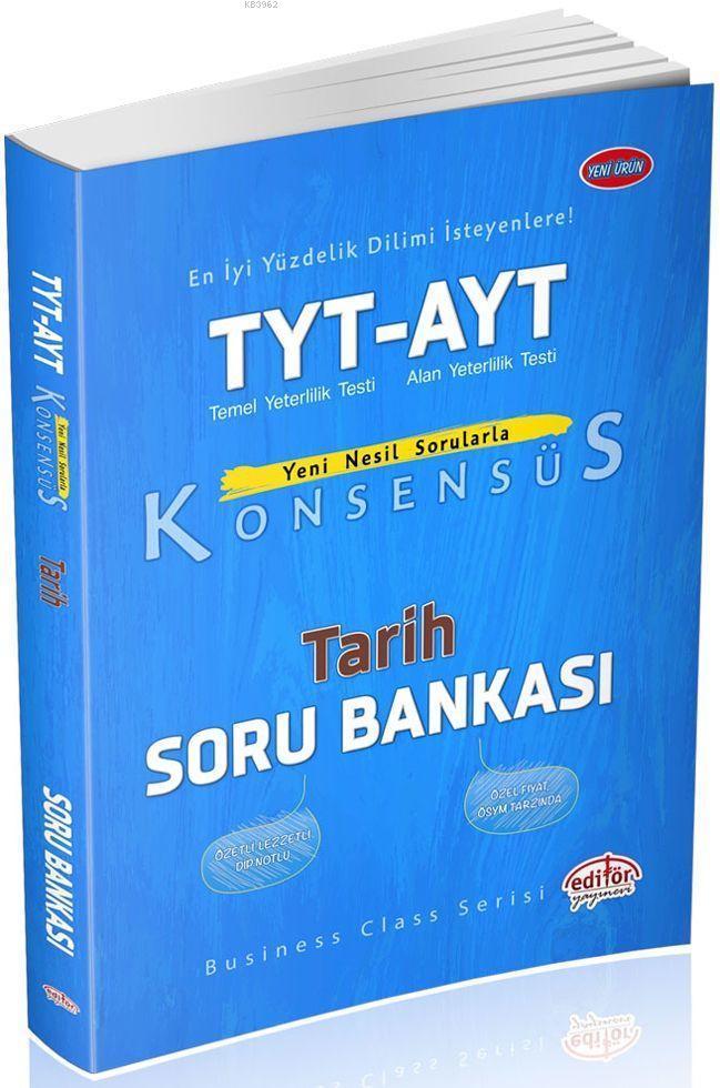 Editör Yayınları TYT AYT Tarih Konsensüs Soru Bankası